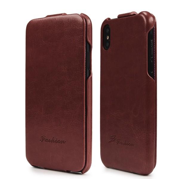 Urcover® Apple iPhone X Handy Klapp Tasche Flip Case Cover Schutz Hülle Etui Wallet Kunst-Leder