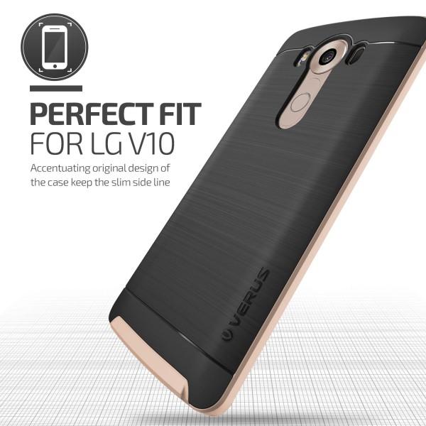 LG V10 Handy Hülle Schutz Case Cover Schale Bumper TPU Polycarbonat Backcase