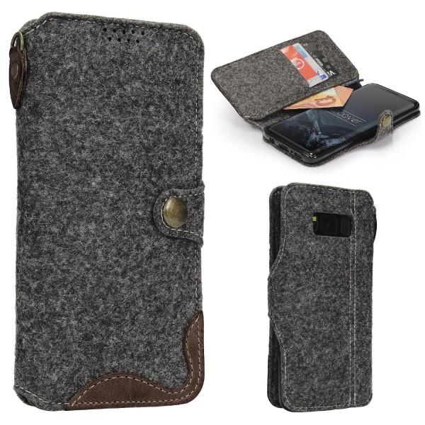 Urcover® Samsung Galaxy S8 Plus Wallet Handyhülle Aufklapp Cover Kartenfach Etui