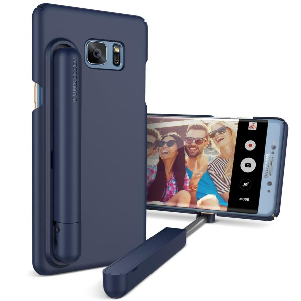Samsung Galaxy Note 7 Selfie Stick Case Back Cover Foto-Stab Photo Stange Hülle