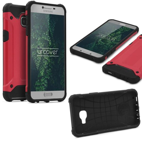 Samsung Galaxy C5 OUTDOOR Schutz Hülle TOP Cover Back Case Carbon Optik Etui