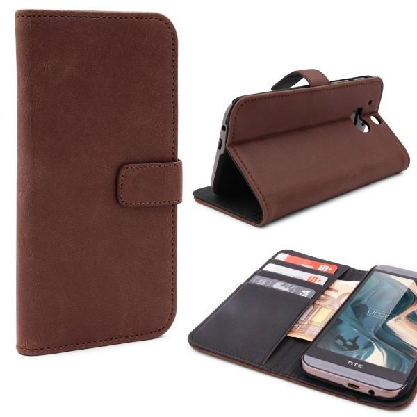 Urcover® HTC One M8 Kunstleder Wallet Flip Schutzhülle Cover Case Tasche Etui