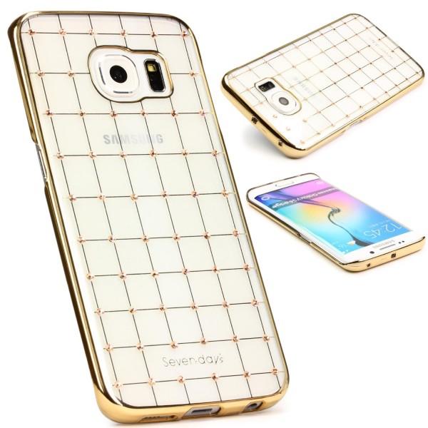 Urcover® Samsung Galaxy S6 Edge Schutz Hülle Glitzer Silikon Soft Case Cover