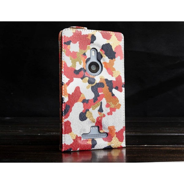 Urcover® Nokia Lumia 925 Kunststoff Flip Schutzhülle Tarn Optik Case Cover