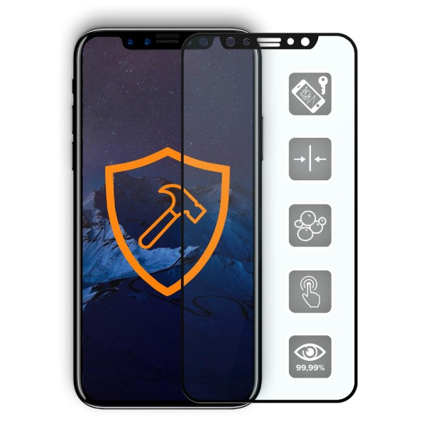 Echt Glas 9H Premium Panzer Display Schutz Folie für Apple iPhone X Crystal Clear