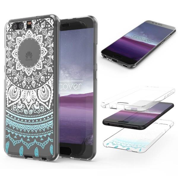 Huawei P10 TPU 360° Grad Rundum Schutz Hülle Mandala Case Cover Schale Etui