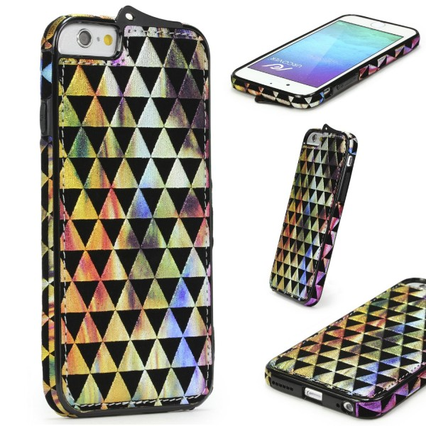 Urcover® Apple iPhone 6 Plus / 6s Plus Schutz Hülle Stoff Muster Soft Case Cover