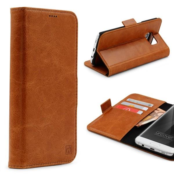 Urcover® Samsung Galaxy S7 Edge Kunstleder Stand Wallet Schutzhülle Case Cover