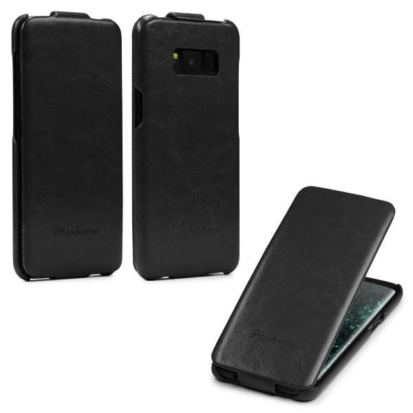 Samsung Galaxy S8 Klapp Tasche Case Cover Schutz Hülle Etui Wallet Kunst-Leder