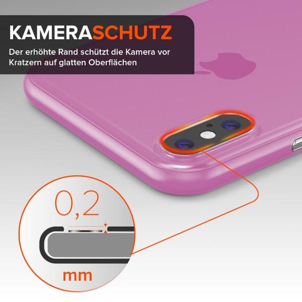Urcover Apple iPhone X ULTRADÜNN 0,3mm Hart Back Case Cover Etui transparent Hülle