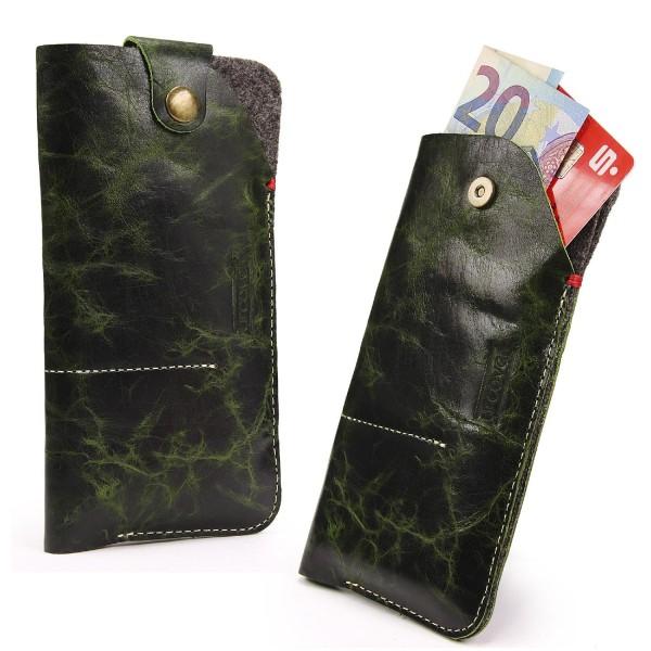 6,8 Zoll Universal Leder Handy Schutz Hülle Tasche Schale Cover Case Etui