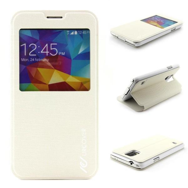 Samsung Galaxy S5 Mini View Case Schutz Hülle Wallet Cover Etui Tasche Struktur