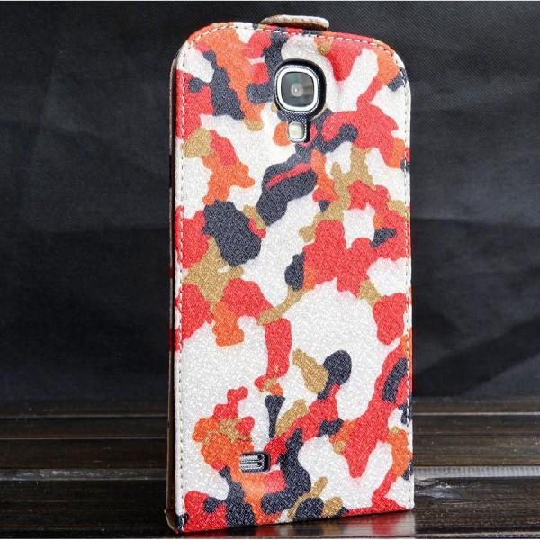 Urcover® Samsung Galaxy S4 Kunststoff Flip Schutzhülle Tarn Optik Case Cover