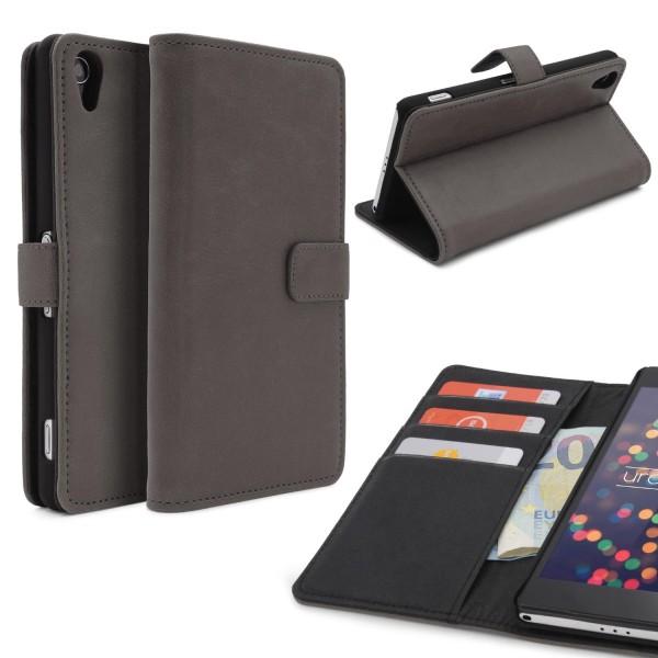 Urcover Sony Xperia Z2 Kunstleder Wallet Flip Schutzhülle Cover Case Tasche Etui