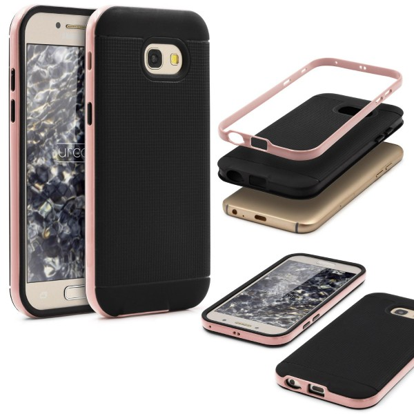 Samsung Galaxy A3 (2017) Schutz Hülle Carbon Style Karbon Optik TPU Case Cover