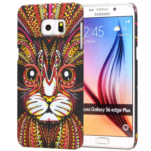 Urcover® Samsung Galaxy S6 Edge Plus Schutz Hülle Tier Muster Hard Back Case