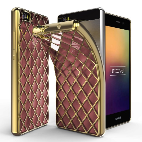 Urcover® Huawei P8 Lite Schutz Hülle Quilted Diamond Design Case Cover Tasche