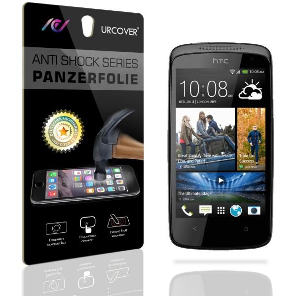 HTC Desire 500 Display Schutz Folie Ultra Klar PET Handy Schutzfolie Clear