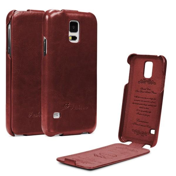 Samsung Galaxy S5 Klapp Tasche Flip Case Cover Schutz Hülle Wallet Kunst-Leder