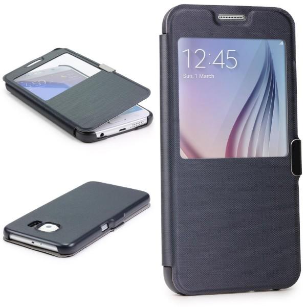 Samsung Galaxy S6 View Case Schutz Hülle Sicht-Fenster Cover