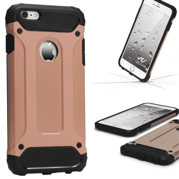Apple iPhone 6 Plus / 6s Plus OUTDOOR Schutz Hülle TOP Cover Backcase Carbon Optik