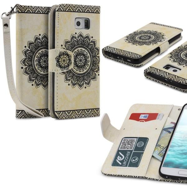 Samsung Galaxy S6 Wallet Klapp Schutz Hülle Stand Flip Case Cover Etui Schale