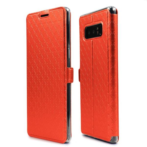 Urcover® Galaxy Note 8 Sunflower Klapp Handy Schutz Hülle Sichtfenster Kartenfach Standfunktion