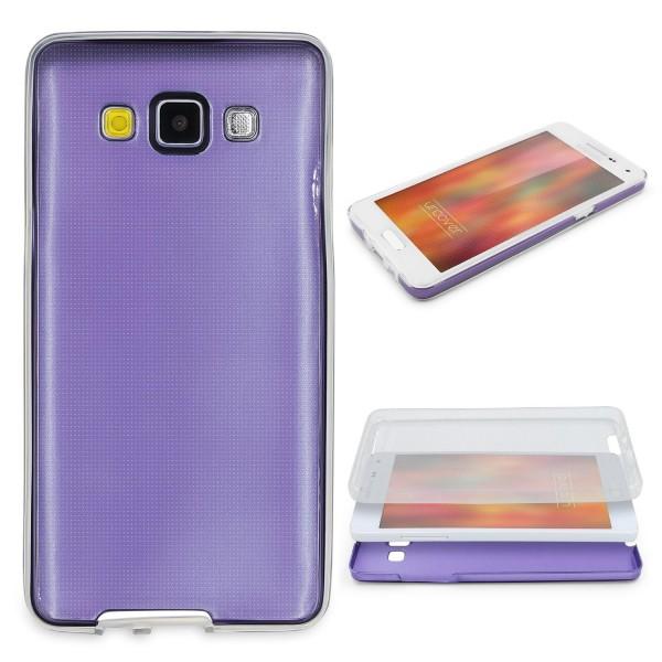 Samsung Galaxy A3 (2015) 360 GRAD RUNDUM SCHUTZ Metalloptik TPU Hülle Cover Case
