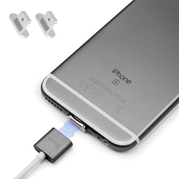 Snap Kabel Adapter Set 2x Apple Magnetischer Stecker Lightning iPhone aufladen
