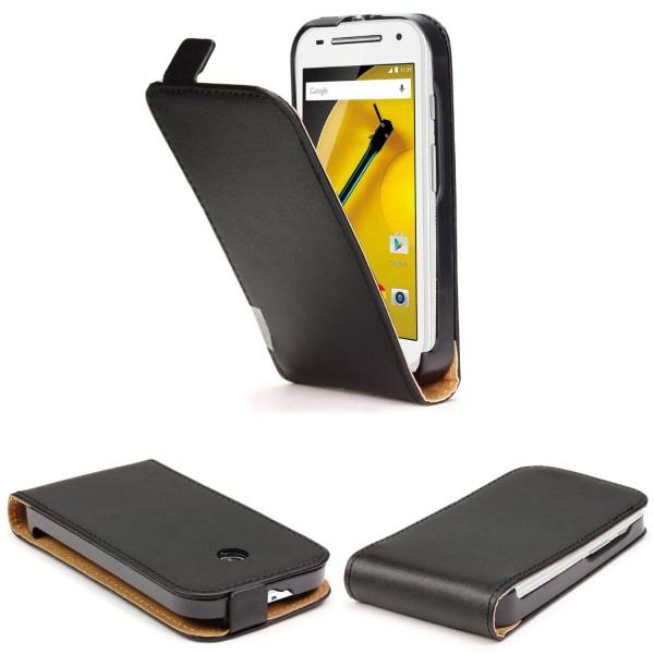 Urcover® Motorola Moto E Kunstleder Flip Schutz Wallet Hülle Case Cover Schale