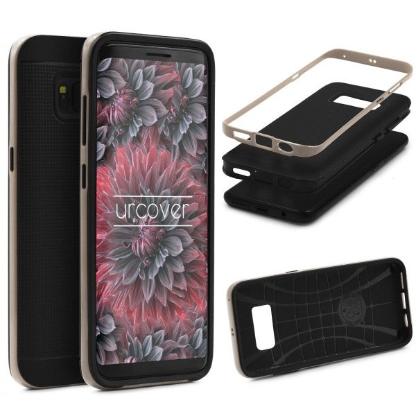 Samsung Galaxy S8 Schutz Hülle Carbon Style Karbon Optik TPU Case Cover Etui