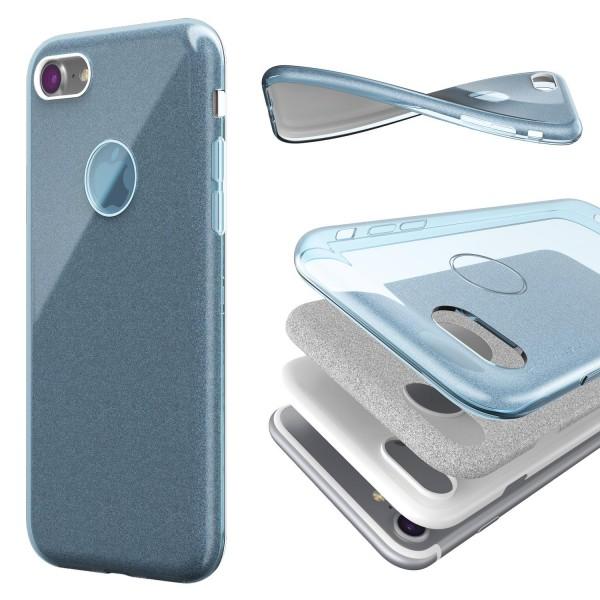 Urcover® Apple iPhone 7 2 in 1 Glitzer Schutz Hülle Bling Case Cover Tasche Etui