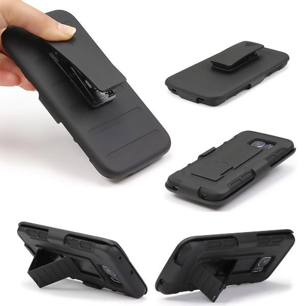 Urcover® Backcase Clip Gürtel Handy Schutz Hülle Backcase Cover