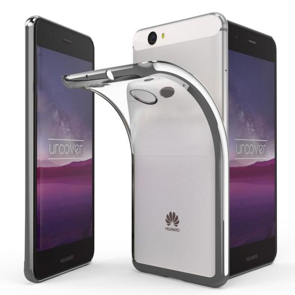 Huawei Nova Hülle Spiegelrand klar Slim Cover Tasche Back Case Etui transparent