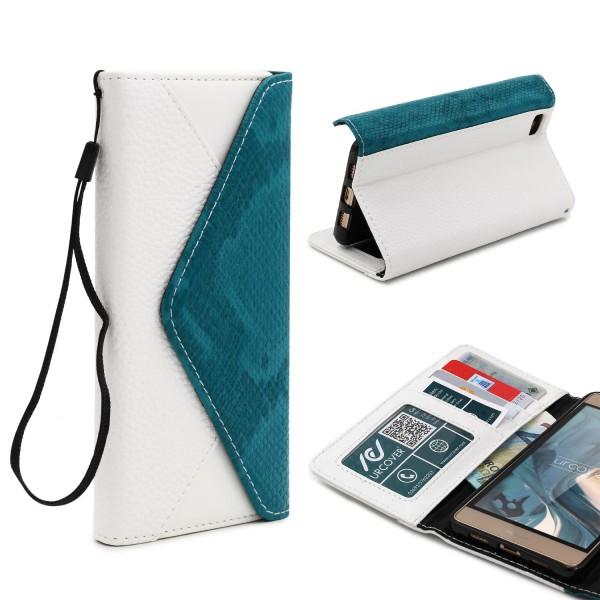 Urcover® Huawei P8 Lite Schutz Hülle Karten & Geld Fach Case Cover Etui