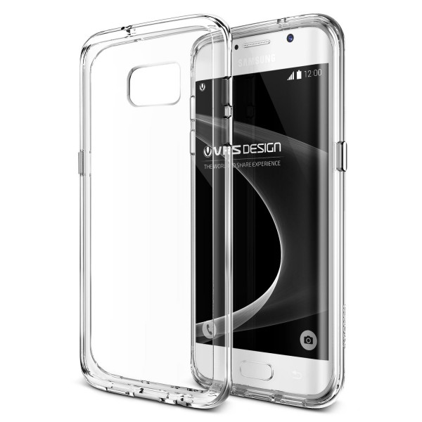 VRS Design® Samsung Galaxy S7 Edge PC TPU Cover Case Hülle Transparent Bumper