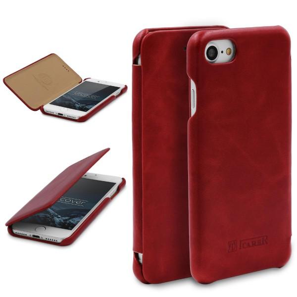 Urcover® Apple iPhone 7 Kunstleder Schutz Wallet Flip Hülle Cover Case Etui