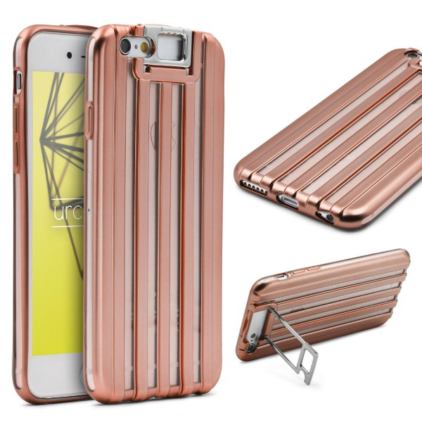 Urcover® Apple iPhone 6 Plus 6s Plus TPU Backcase Schutzhülle Metall Optik Case