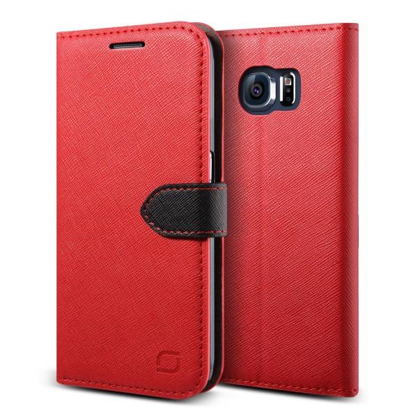 Urcover® Samsung Galaxy S6 Klapp Schutz Hülle Flip Wallet Kartenfach Stand Case