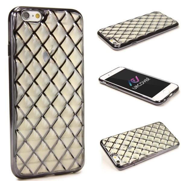 Urcover® Apple iPhone 6 Plus / 6s Plus Schutz Hülle Quilted Diamond Design Case