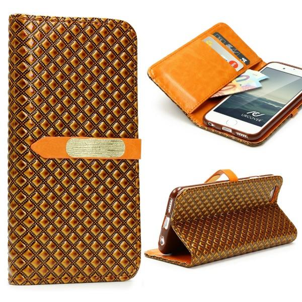 Apple iPhone 6 / 6s Vintage Wallet Edition Handy Schutz Hülle Cover Case Tasche
