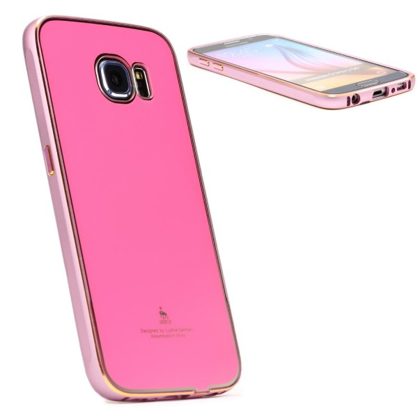 Urcover® Aluminium Handy Schutz Hülle für Samsung Galaxy S6 Bumper Case Cover