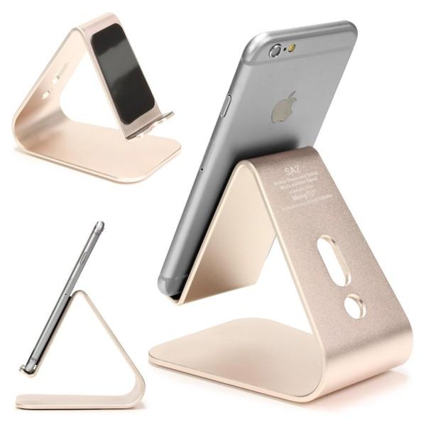 Urcover® Universal Aluminium Smartphone Schreibtisch Ständer Halter Halterung