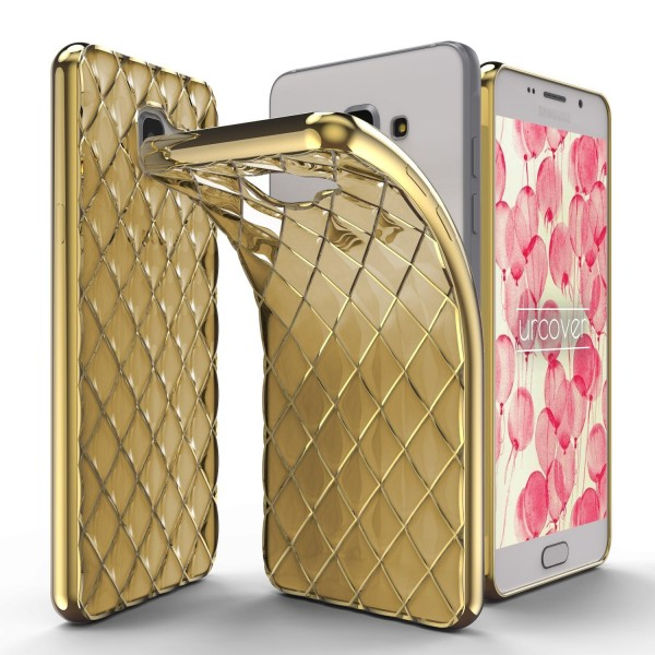 Urcover® Samsung Galaxy A7 (2016) Schutz Hülle Quilted Diamond Design Case Cover