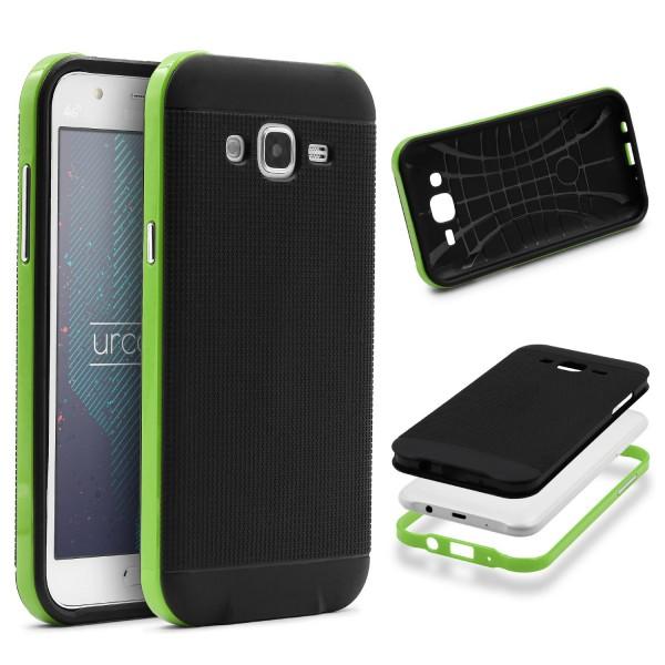 Samsung Galaxy J3 (2015) Schutz Hülle Carbon Style Karbon Optik TPU Case Cover