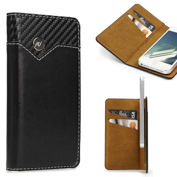 Urcover® Apple iPhone 6 Plus / 6s Plus Schutzhülle Kartenfach Wallet Flip Cover