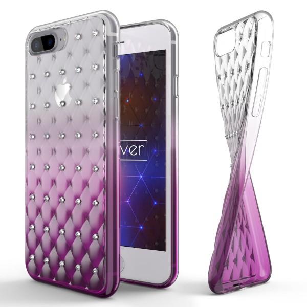 Apple iPhone 7 Plus Luxus TPU Handy Hülle Schutz Cover Glitzer Diamant Case Etui
