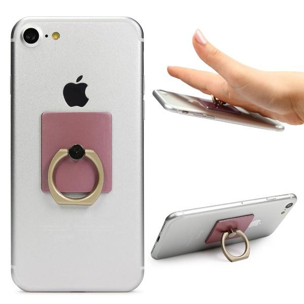 Urcover® Finger Ring Halterung Selfie Aluminium Standfunktion Halter Grip 360 °