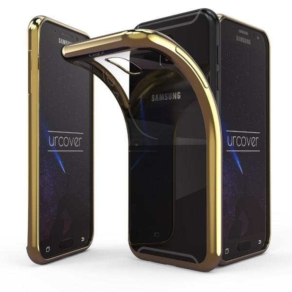 Urcover® Samsung Galaxy J7 (2017 Europa) Handy Hülle Spiegelrand klar Slim Cover Tasche Back Case