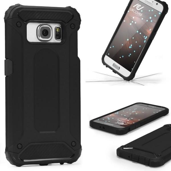 Samsung Galaxy S6 OUTDOOR Schutz Hülle TOP Cover Back Case Carbon Optik Etui